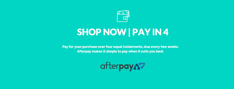 We now accept payment by Afterpay